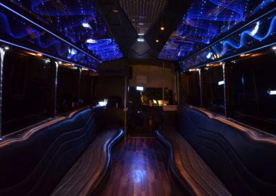 26 Passenger Limo Coach Interior