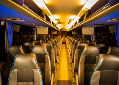55 Passenger Motor Coach Interior