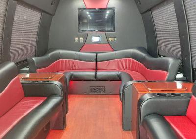 14-Passenger Limo Bus Interior