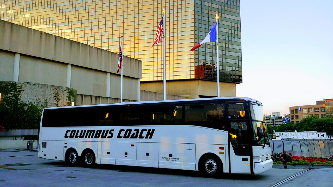 Charter Bus, Shuttle Bus, Coach Bus- Up to 55 Passengers
